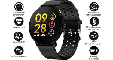 Denver SW-171-BK  - Bluetooth Smartwatch with Heartrate Sensor